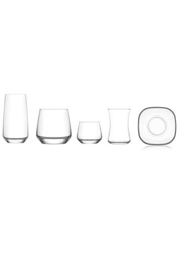 Lav Çeyiz Seti 30 Prç. Su Bardak - Meşrubat Bardağı Takımı Seti Renkli